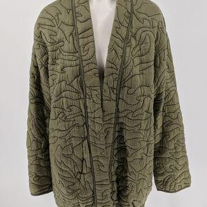 Anthropologie Green Overcoat Coatigan Sz M